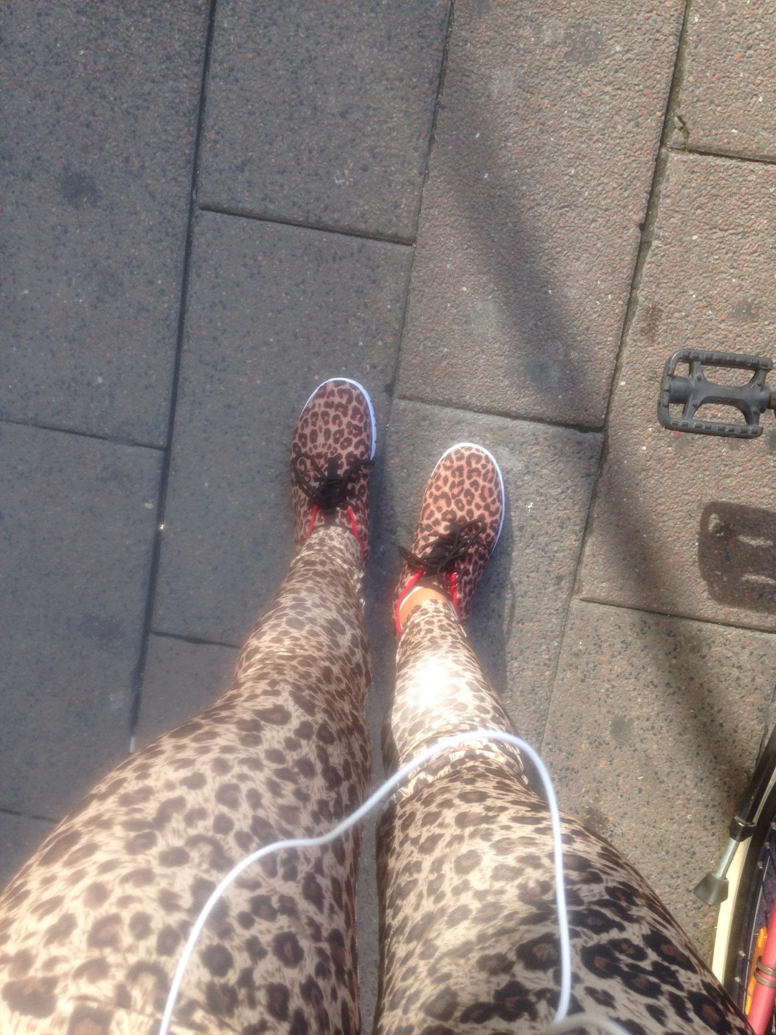leopard leggings dame